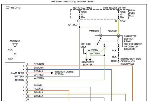98 honda civic radio wiring diagram sle wiring