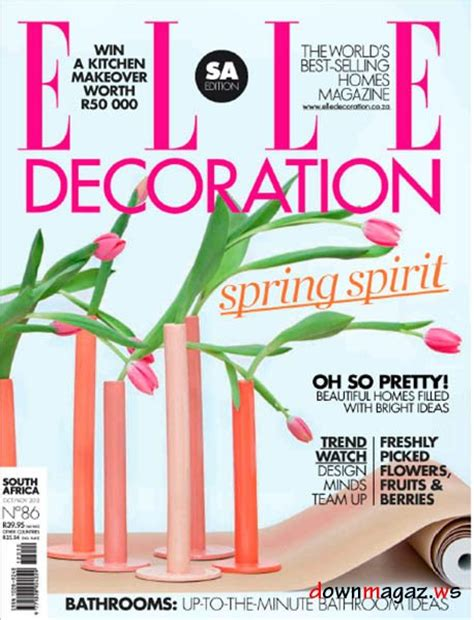 home decor magazines in south africa elle decoration magazine south africa october november
