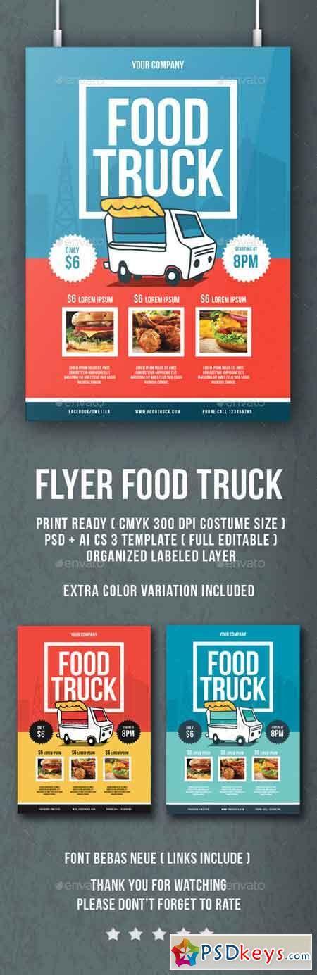 Flyer Food Truck 13513701 187 Free Download Photoshop Vector Stock Image Via Torrent Zippyshare Food Truck Flyer Template