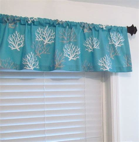 nautical valances nautical curtain valance made to order 50 wide in your choice of length 2 1 2 rod pocket all