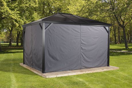 gazebo privacy curtains sojag verona gazebo privacy curtains walmart ca