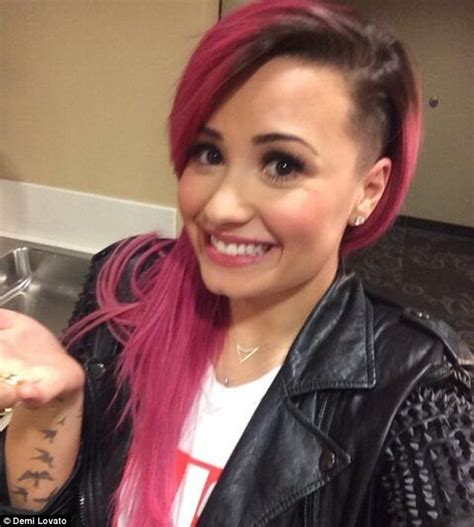 side of head shaved with long hair both sides shaved long demi lovato unveils new haircut on twitter after shaving