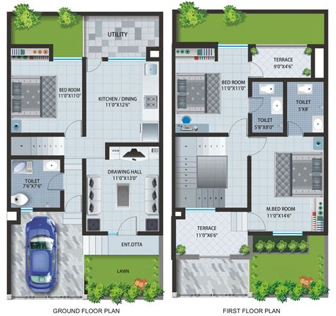home planner row house layout plan patel pride aurangabad