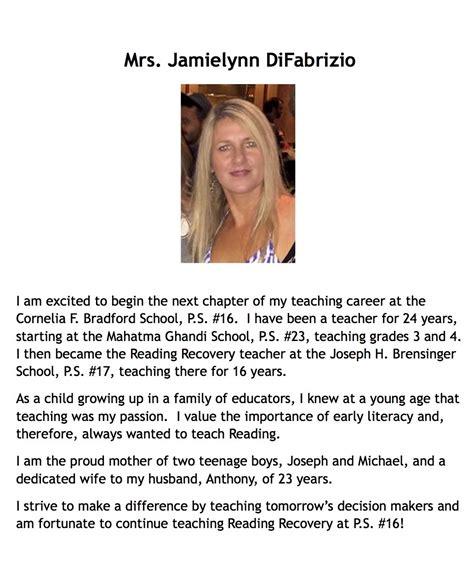 biography exle for ece ps16 teacher bios cornelia f bradford school p s 16
