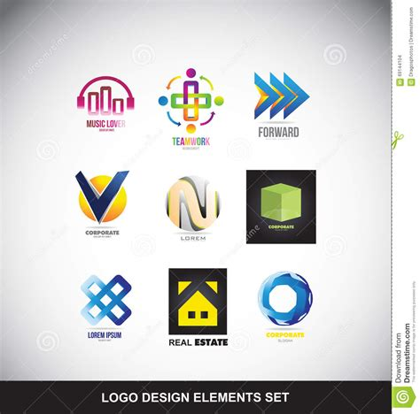 design elements by ultimate symbol logo design elements set icon stock vector image 69144104