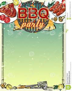 Backyard Barbecue Menu Barbecue Background With Space For Text Stock Illustration