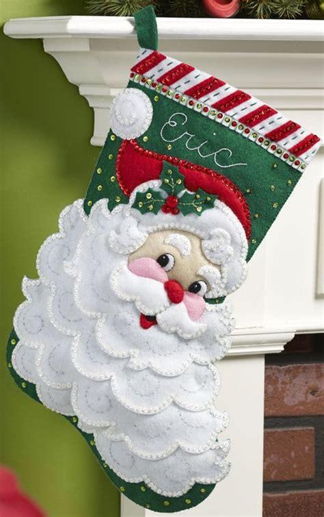sale jolly santa faces bucilla felt applique tree 219 best bucilla felt images on
