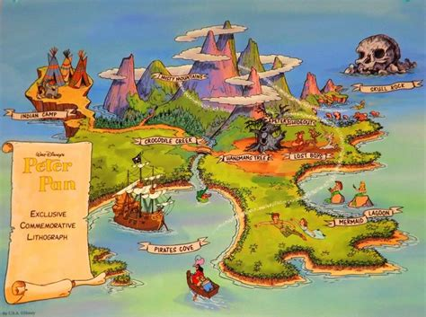 neverland map neverland map maps and pan on