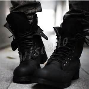 Style fashionable riding boots men s short black shoe men s boots