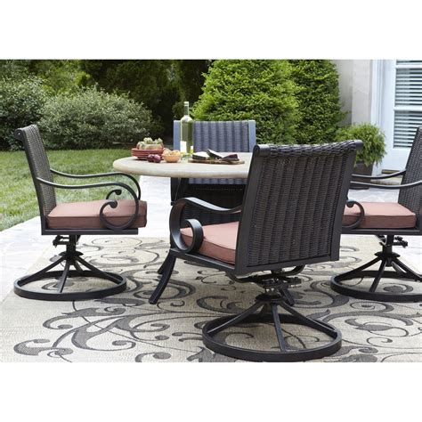 allen roth patio furniture allen roth pardini 5 dining set lowe s canada