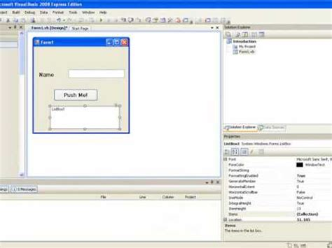 visual basic tutorial for beginners free visual basic 2008 for beginners tutorial 1 getting