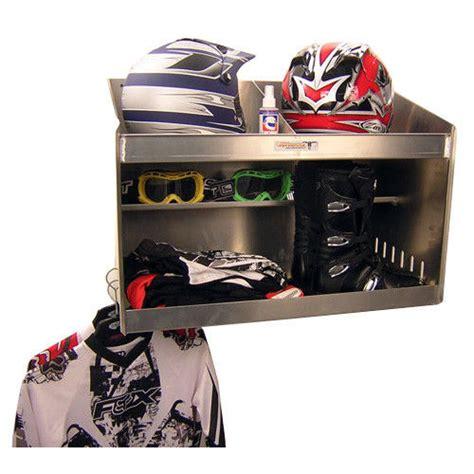 aluminum deluxe helmet bay storage cabinet enclosed car