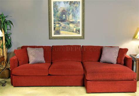 brick red sofa red chrisma brick fabric 2pc modern elegant sectional sofa