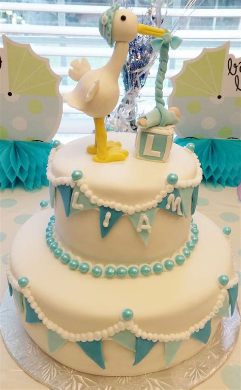 How To Make A Baby Shower Cake Out Of Diapers by Stork Baby Shower Cake Cakecentral
