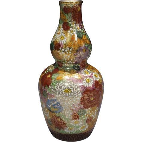 Kutani L by Japanese Kutani Porcelain Hy蜊 Sake Bottle In