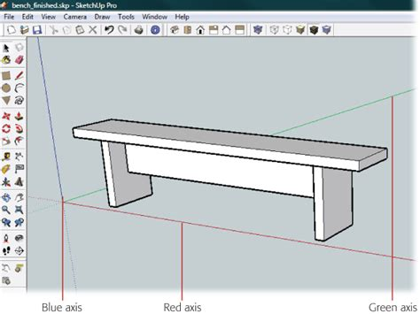 Build Your House Online 1 building a bench your first sketchup model google