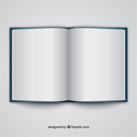 template of open book open book realistic template vector free