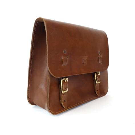 Handmade Saddlebags - leather saddle bag walnut clouds collective made