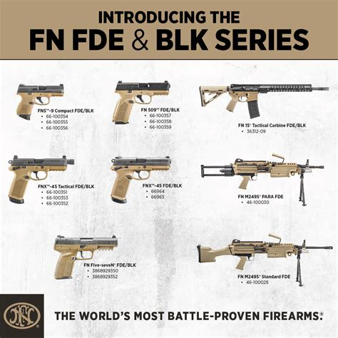 fde color fde black new two tone series from fn the firearm