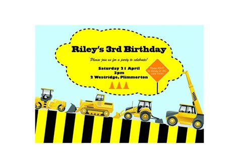 printable party invitations nz construction birthday invitation printable emailable