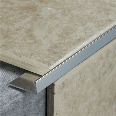 metal floor l pack of 5 10mm silver metal tile trim l shaped ceramics