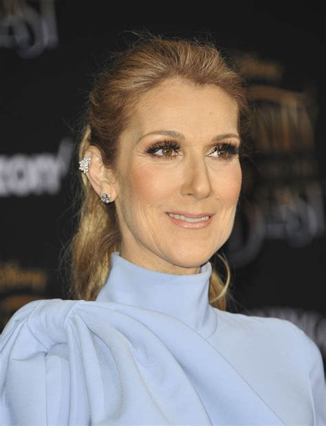 selin dion celine dion s powder blue bow at beauty and the beast premiere