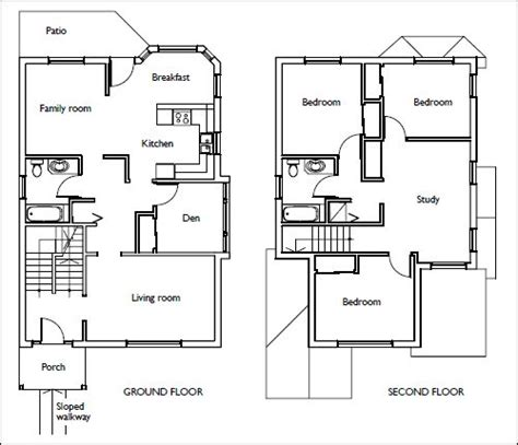 how to draw a basement floor plan 1 4 per foot house floor plans stairs pinned by www modlar