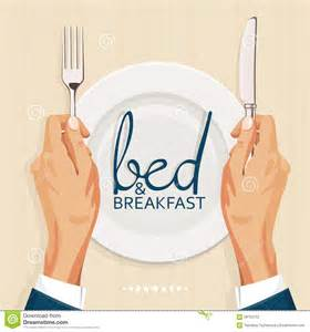 bed template bed and breakfast menu cover template stock vector image