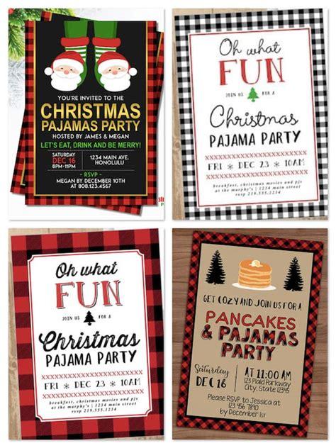free christmas pj invitation family pajama celebrations partyideapros