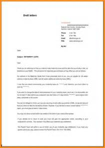sample letter notifying employer of maternity leave
