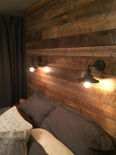 headboard light fixtures diy wood pallet wall ideas and paneling