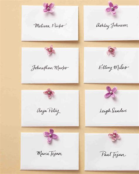how to make table cards things seating displays and table numbers martha