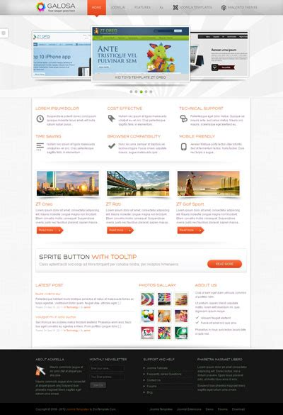 zt galosa joomla template for corporate portfolios or