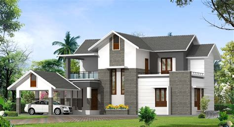 contemporary kerala house plan at 2000 sq ft
