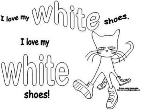 pete the cat coloring page i love my white shoes making learning fun pete the cat literacy ideas
