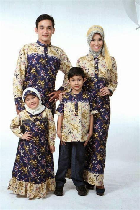desain gamis keluarga 20 model baju batik muslim untuk pesta keluarga terbaru