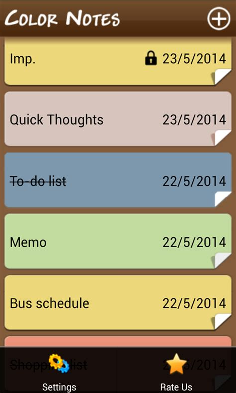 notes app android color notes notepad free android app android freeware