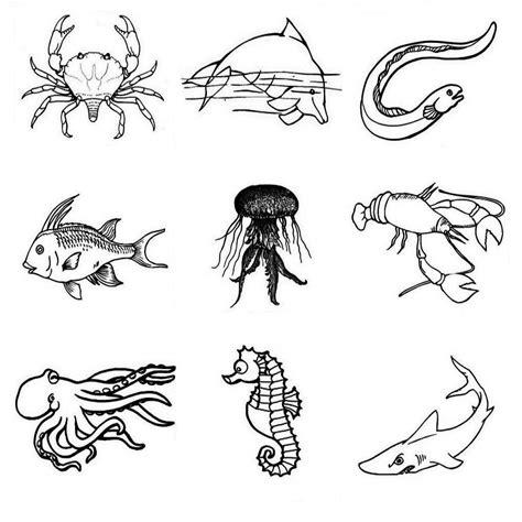 dibujos para colorear de animales del mar dibujos del mar para colorear peces para colorear
