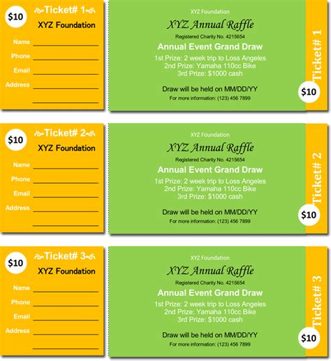 20 Free Raffle Ticket Templates With Automate Ticket Microsoft Word Ticket Template