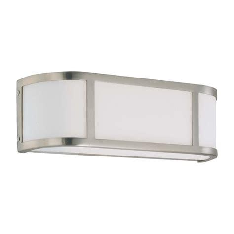 bathroom lighting brushed nickel finish bathroom light with white glass in brushed nickel finish