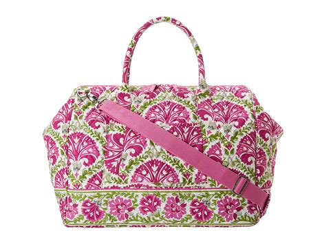Vera Doctor Frame Bag by Vera Bradley Luggage Frame Travel Bag In Pink Julep Tulip
