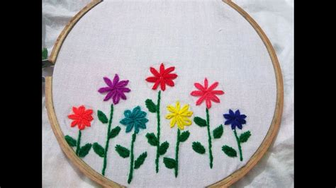 embroidery design youtube hand embroidery lezy desy hand stitch design by nakshi
