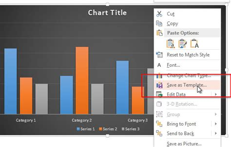 how to save a powerpoint template save chart templates in powerpoint 2013