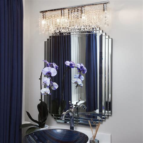 crystal bathroom vanity light fixtures crystal fusion design 4 light 24 quot bath vanity fixture contemporary bathroom new
