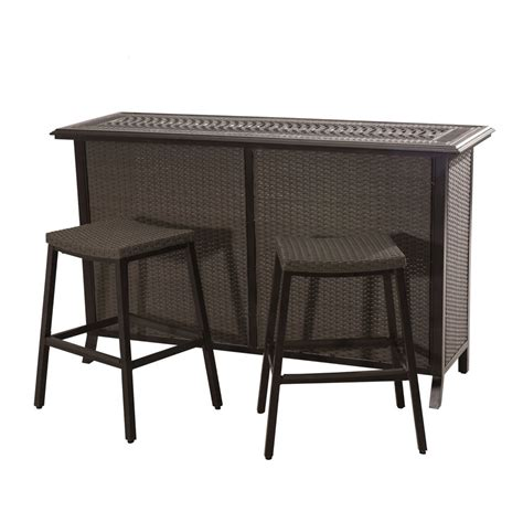 sunjoy semolina 3 outdoor bar set the home depot