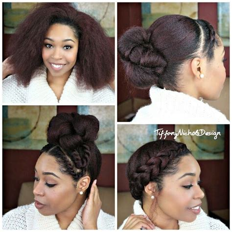 hairstyles for blow dried african american hair 17 best ideas about natural hair buns on pinterest
