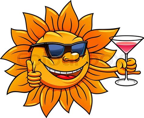 funny images of hot sun happy bright hot sun cartoon character stock vector