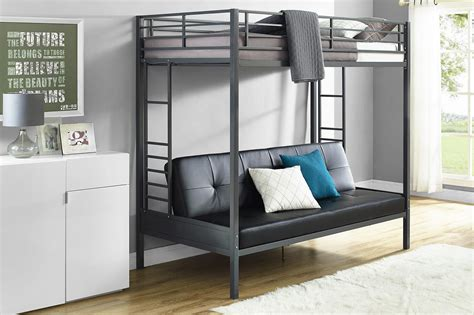 futon bed dhp furniture jasper premium futon bunk bed