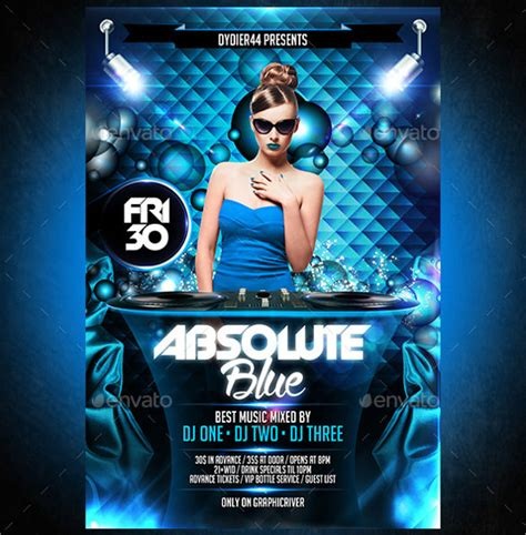 17 Awesome Blue Flyer Templates Sle Templates Blue Flyer Template