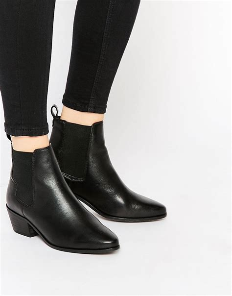 dune dune peetra black pointed chelsea boots at asos